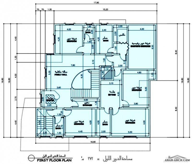 طابقين  و شقة بالرووف مساحة الدور الارضي 330 متر مربع - الشقة 129 متر مربع من مشاركات Sultan F