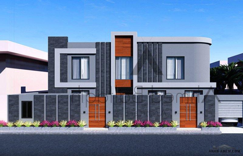 تصميم مميز جدا فيلا مساحة الارض 600 متر مربع من أعمال  المعماري أحمد بلفقيه | جدة |