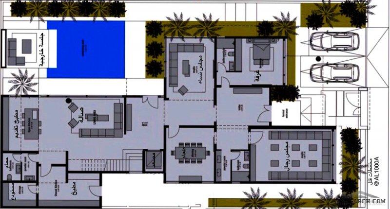 مخطط فيلا دورين  مساحة الأرض 20x35 من مشاركات AL1000A
