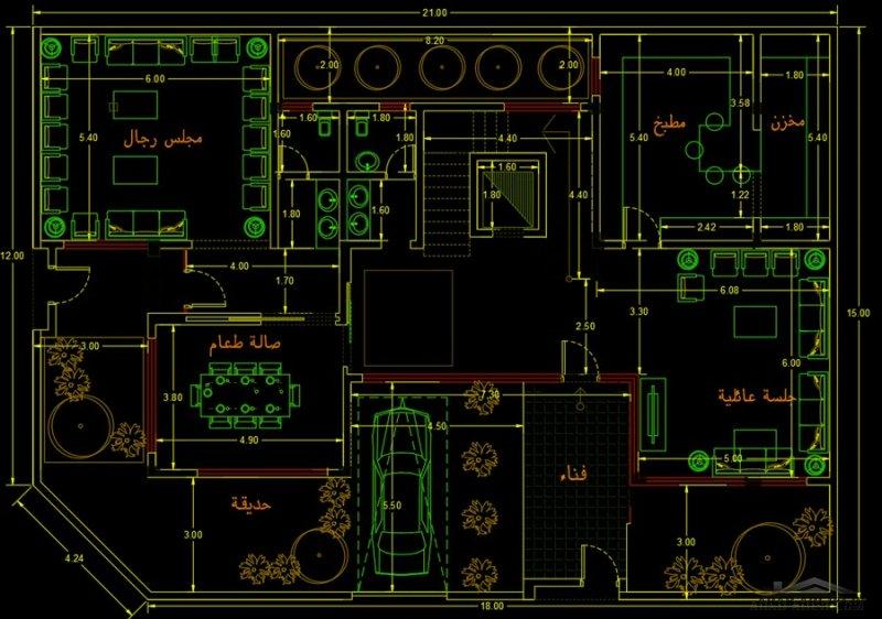 مخطط فلة زاوية مساحة ٣١٠ م  من مشاركات M01011442