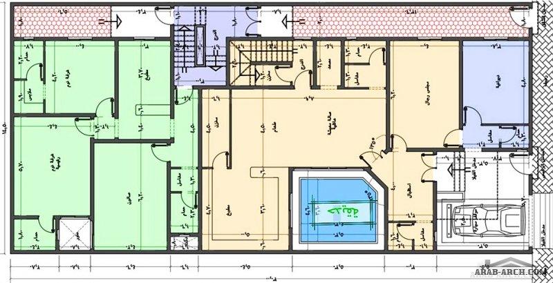 مخطط مميز فيلا بالوجهه  و شقق خلفية مساحة الارض 30*14.5 متر من مشاركات TheBest51971210