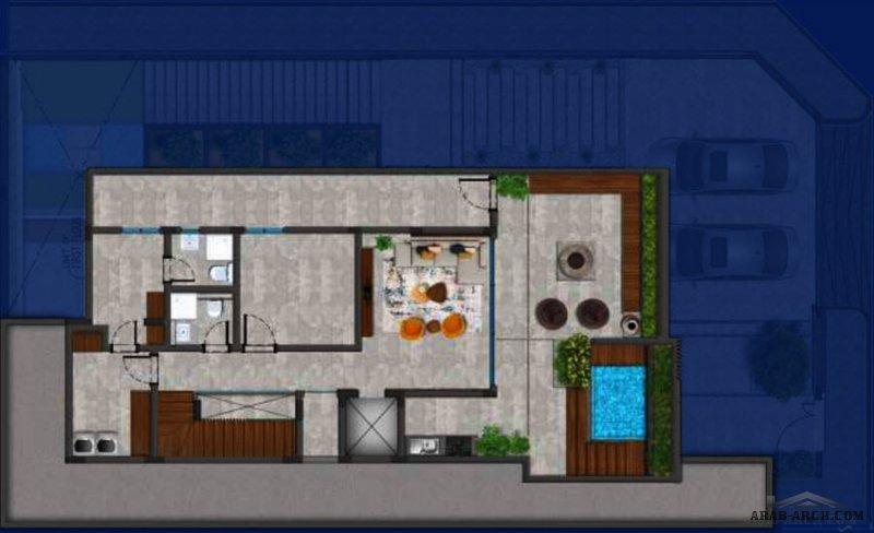 مخطط فيلا الرياض نموذج A  ميدتاون ريزيدينس الأرض 25*14.5 بإجمالي مساحة 360 متر مربع  المساحة الإجمالية للبناء 805 متر مربع