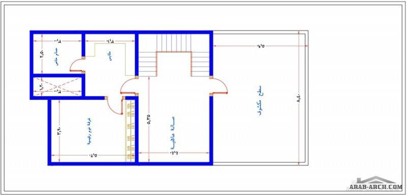 مكتب الراجحي الهندسي مخطط رائع فيلا 12*25 متر تصميم سعودي