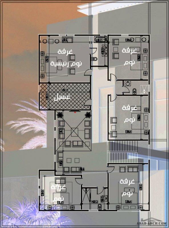 من أعمالنا تصميم فيلا مودرن .. مساحة 540 م2 -  م عيسى السعودية