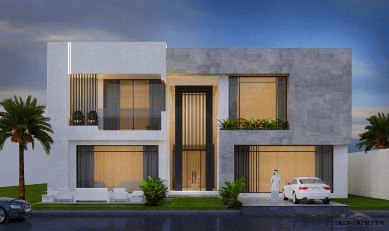 من أعمال  المعماري عزام فيلا طابقين ابعاد الارض 41*25 متر تصميم سعودي مبادر تطوير المخطاطات طاق الحمادي