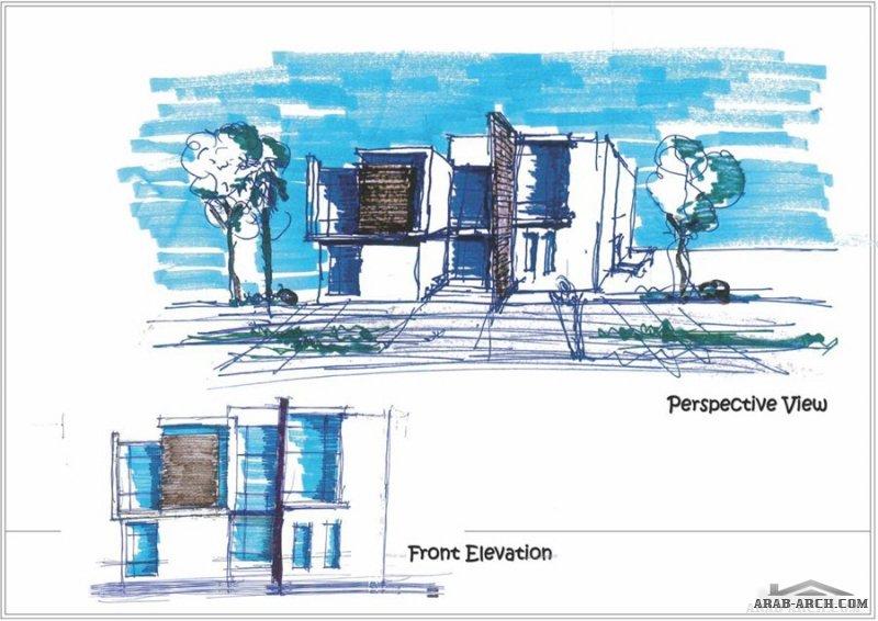 مخطط 42*25 متر فيلا طابقين للمعماري Labid Salah Aghbari  صمم بيتك صح
