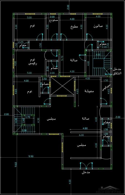 مخطط  لارض 31 *20 متر فيلا سعودي طابقين من مشاركات givenchy70007