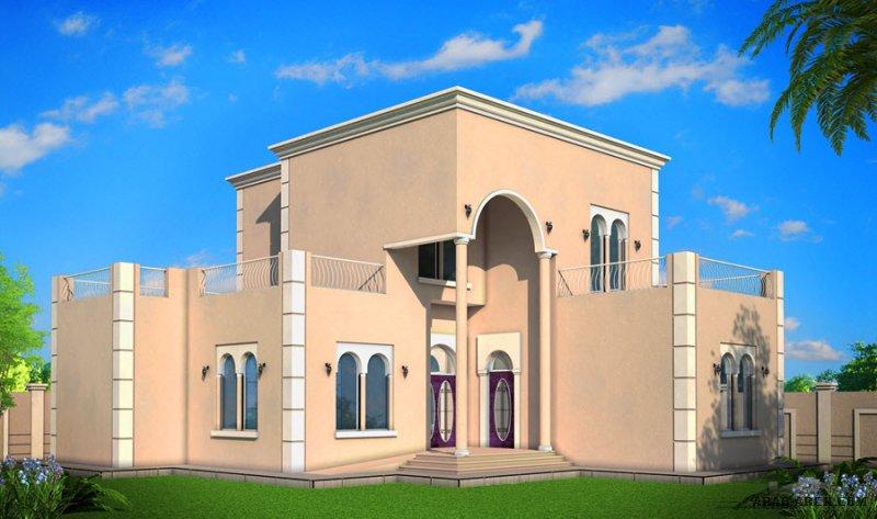فيلا 290 م2 تصميم خليجي برنامج الشيخ زايد 3 غرف نوم طابق  نصف قابل للتوسعه