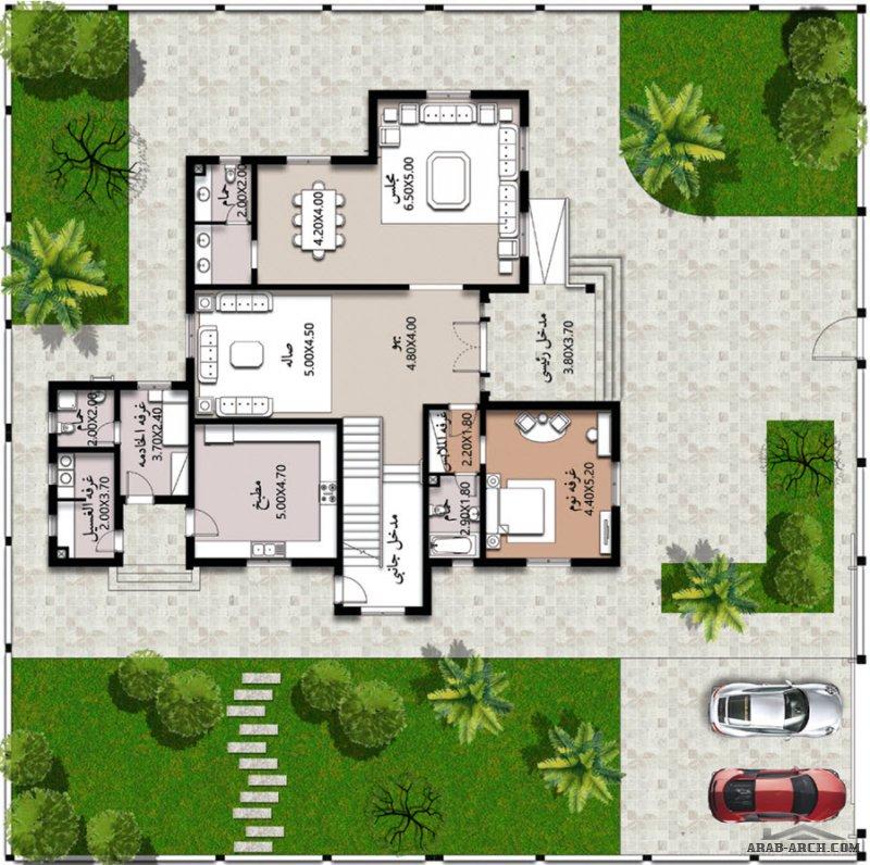 مخطط خليجي 4 غرف نوم 446 م2 برنامج الشيخ زايد للمساكن