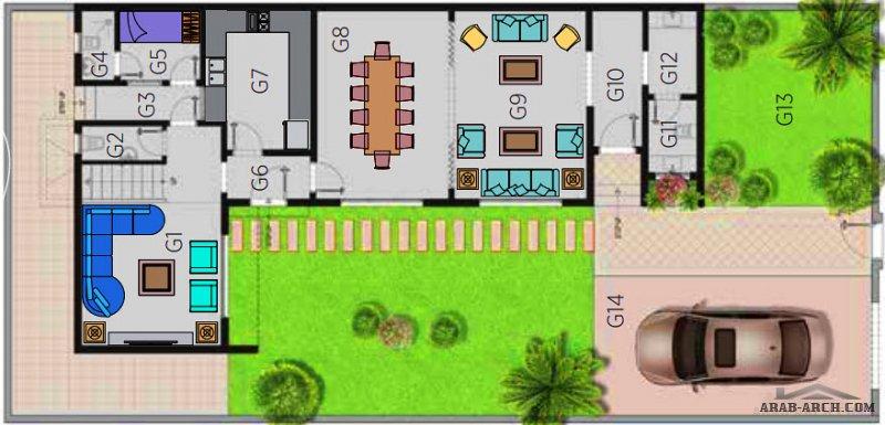 فيلا تالا 4 مشروع مسكن هايتس الرياض من اعمال مسكن العربية فيلا مساحة الارض 300 متر مربع