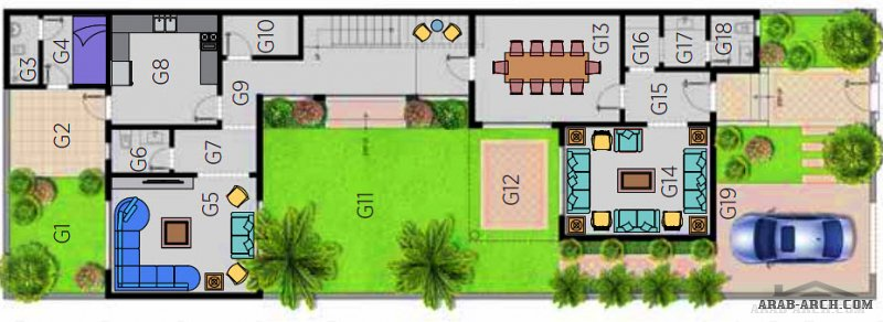فيلا الرابية 1 مشروع مسكن هايتس الرياض من اعمال مسكن العربية تاون هاوس مساحة الارض 300 متر مربع
