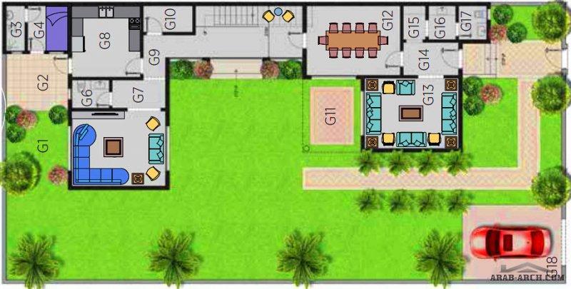 فيلا الرابية  2 مشروع مسكن هايتس الرياض من اعمال مسكن العربية فيلا مساحة الاض 450 متر مربع