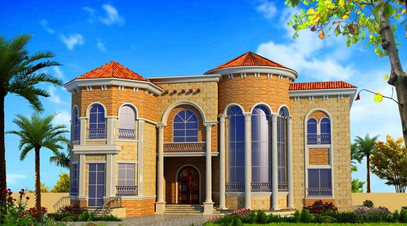 مخطط 7 غرف نوم  المساحة 767 متر مربع عدد الطوابق أرضي - أول أبعاد البيت 23.15 م x 22.40 م صمم بواسطة مكتب الشارقة للاستشارات الهندسية