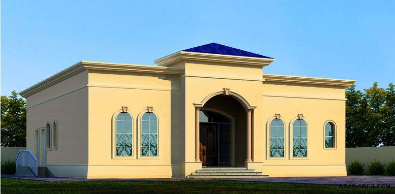خطة فيلا أرضية 3 غرف نوم  المساحة 232 متر مربع  أبعاد البيت 17 م x 15.20 م  صمم بواسطة مكتب الشارقة للاستشارات الهندسية
