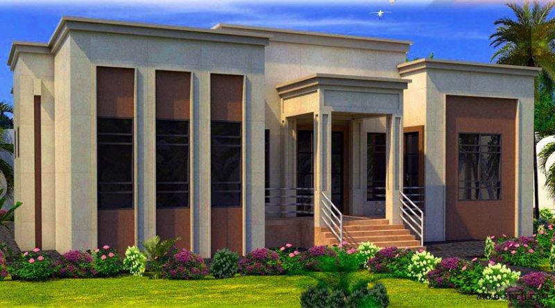 طابق واحد غرف النوم 4 المساحة 271.50 متر مربع  أبعاد البيت 17.60 م x 18 م  صمم بواسطة البيت للاستشارات الهندسية