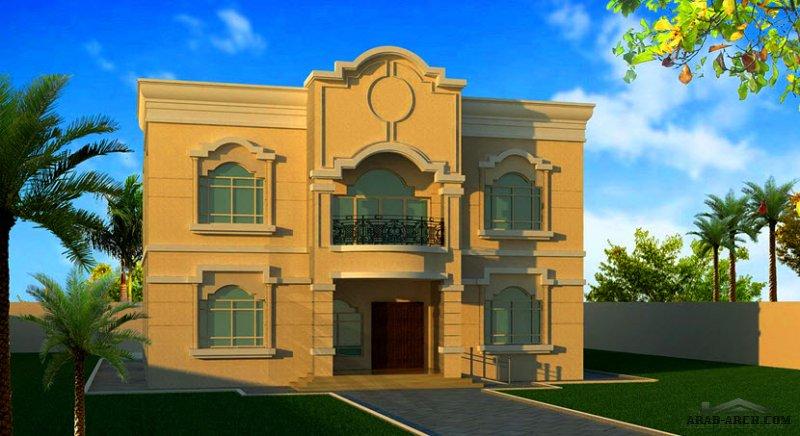 مخطط غرف النوم 5 المساحة 586 متر مربع عدد الطوابق أرضي - أول أبعاد البيت 15.40 م x 16.40 م  صمم بواسطة الهندسية للاستشارات الهندسية