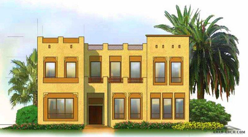 مخطط خليجي غرف النوم 5 المساحة 408 متر مربع عدد الطوابق أرضي - أول أبعاد البيت 18.50 م x 16.80 م صمم بواسطة برنامج الشيخ زايد للإسكان