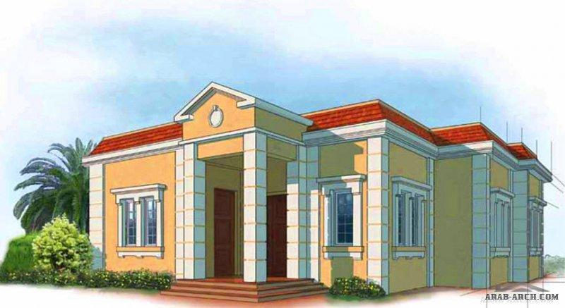 دور واحد أرضيغرف النوم 3 المساحة 206 متر مربع  أبعاد البيت 15.20 م x 15.70 م  صمم بواسطة برنامج الشيخ زايد للإسكان