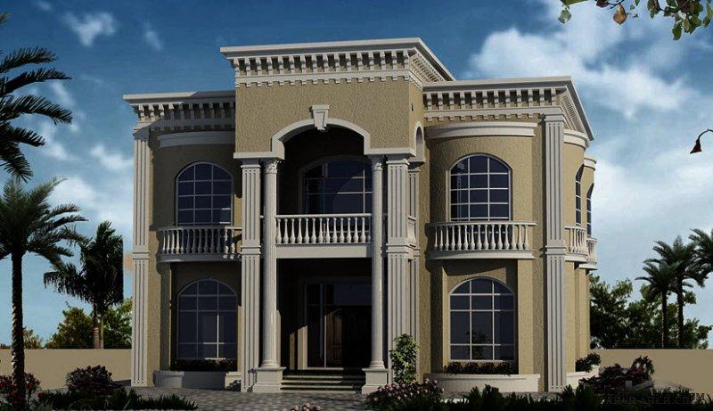 مخطط دورين غرف النوم 4 المساحة 568 متر مربع  أبعاد البيت 15.80 م x 17.20 م  صمم بواسطة مكتب الشارقة للاستشارات الهندسية