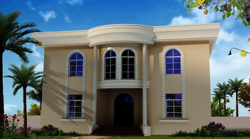 فيلا غرف النوم 5 المساحة 567 متر مربع عدد الطوابق أرضي - أول أبعاد البيت 16.90 م x 16.90 م  صمم بواسطة كونكورد للاستشارات الهندسية