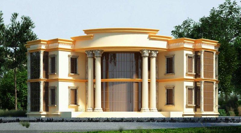 فيلا غرف النوم 5 المساحة 651 متر مربع عدد الطوابق أرضي - أول أبعاد البيت 27 م x 25.50 م  صمم بواسطة بلا حدود للاستشارات الهندسية
