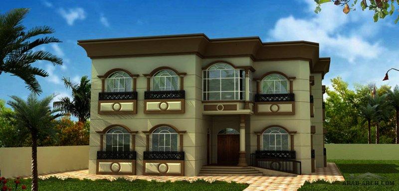 مخطط غرف النوم 5 المساحة 495 متر مربع عدد الطوابق أرضي - أول أبعاد البيت 16.90 م x 16.90 م صمم بواسطة إعمار الإمارات للاستشارات الهندسية