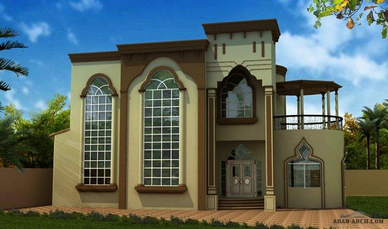 مخطط فيلا غرف النوم 5 المساحة 503 متر مربع عدد الطوابق أرضي - أول أبعاد البيت 18.29 م x 15.95 م  صمم بواسطة إعمار الإمارات للاستشارات الهندسية