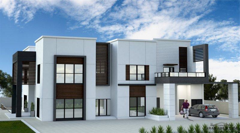 مخطط غرفنوم 5 المساحة 603 متر مربع عدد الطوابق أرضي - أول أبعاد البيت 20.75 م x 21.10 م   مسبح داخلي صمم بواسطة شركة الحمراء للاستشارات الهندسية