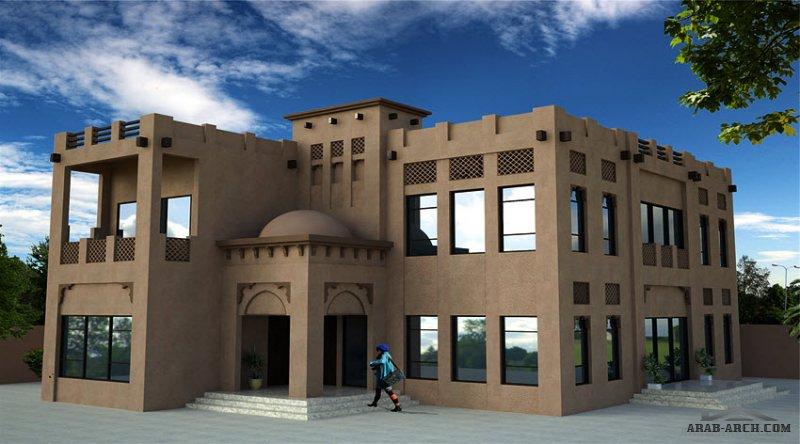 مخطط غرف النوم 5 المساحة 405 متر مربع عدد الطوابق أرضي - أول أبعاد البيت 13.10 م x 18.70 م  صمم بواسطة شركة الحمراء للاستشارات الهندسية