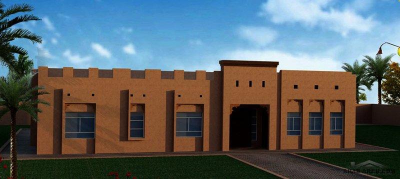 دور واحد أرضي  مطبخ خارجي غرف النوم 3 المساحة 422 متر مربع  أبعاد 23.60 م x 18.20 م