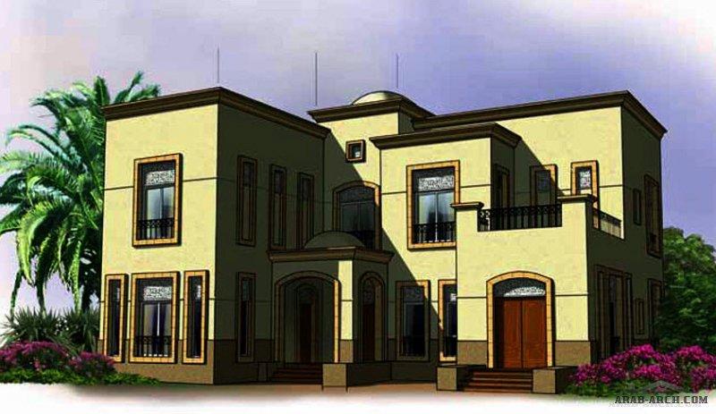 مخطط فيلا غرف النوم 5 المساحة 475 متر مربع عدد الطوابق 2 أبعاد البيت 17.82 م x 17.90 م  صمم بواسطة برنامج الشيخ زايد للإسكان