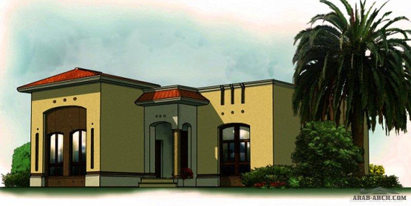 مخطط غرف النوم 2 المساحة 166 متر مربع  أرضي أبعاد البيت 16.34 م x 18.50 م  صمم بواسطة برنامج الشيخ زايد للإسكان