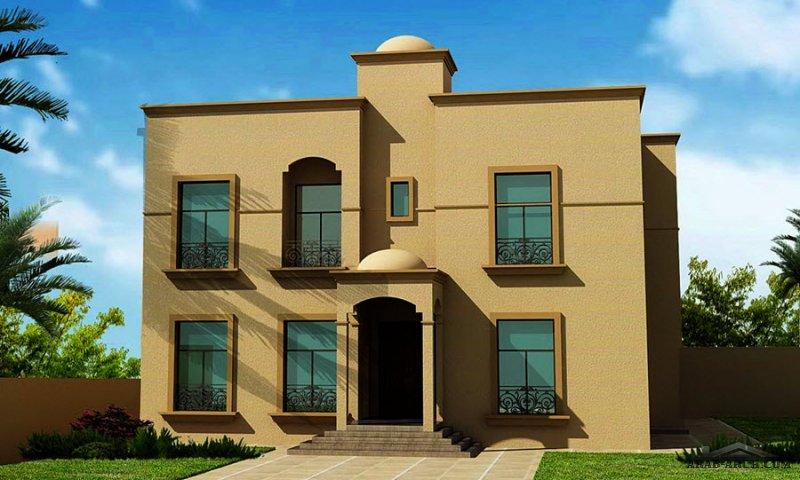 فيلا غرف النوم 5 المساحة 517 متر مربع عدد الطوابق أرضي - أول أبعاد البيت 18.10 م x 18.90 م  صمم بواسطة ديار للاستشارات الهندسية
