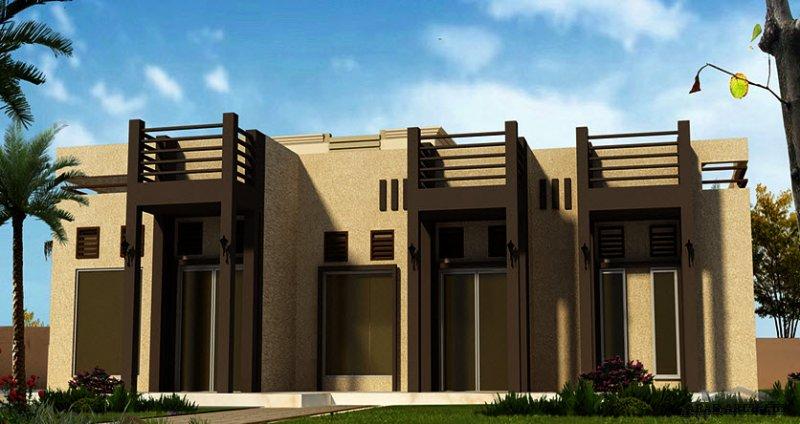 فيلا أرضي غرف النوم 3 المساحة 278 متر مربع  أبعاد البيت 16.40 م x 18.70 م صمم بواسطة مكتب العالمية للاستشارات الهندسية