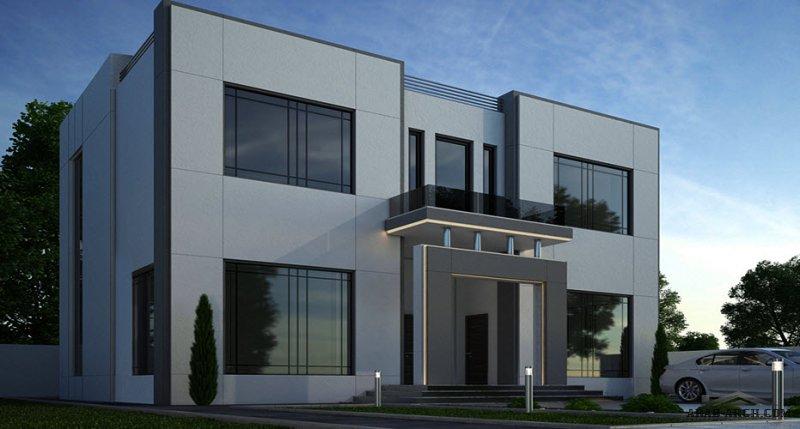 مخطط غرف النوم 3 المساحة 267 متر مربع عدد الطوابق أرضي - أول أبعاد البيت 12.70 م x 13.60 م  صمم بواسطة مكتب الشارقة للاستشارات الهندسية