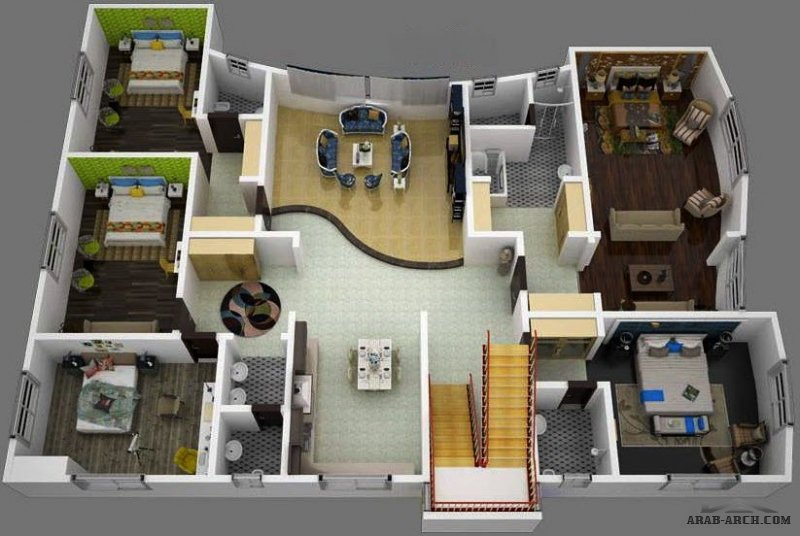 تصميم بناية 3 شقق من أعمال مكتب راك للاستشارات الهندسية