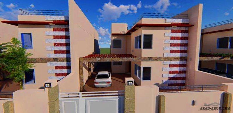 مخطط دار عراقي طابق  و نصف مجمع الفاروق السكني