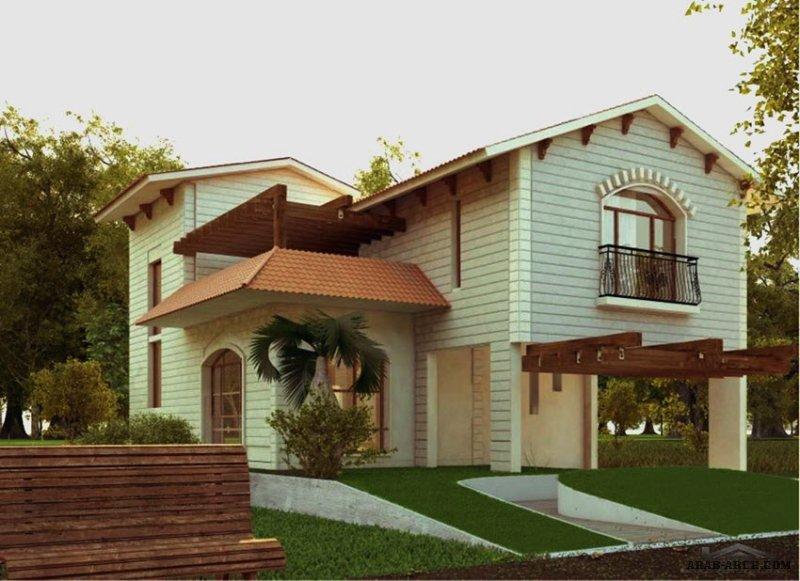 تصاميم بيت ريفي صغير المساحة طابقين