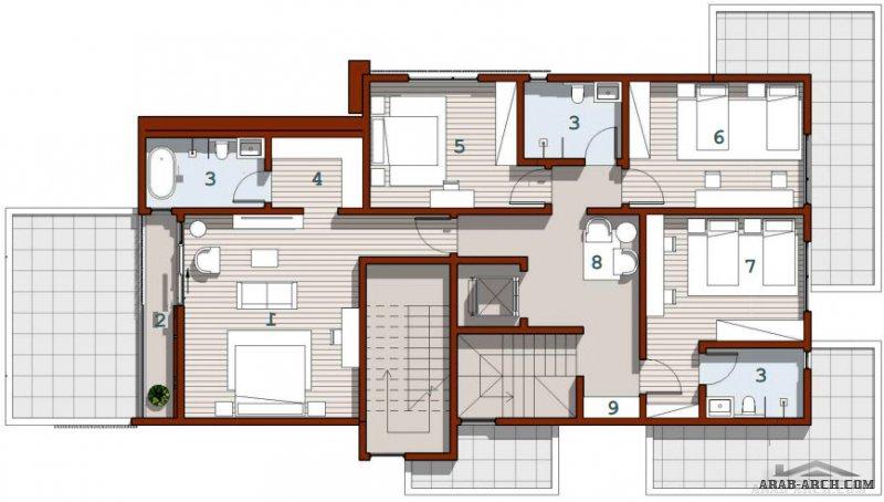 تصميم فيلا آكد 01 من أعمال المصمم المهندس عبدالله آل بشر لمستفيدي سكني أطوال الأرض (عرض) 14 متر  أطوال الأرض (طول) 25 متر