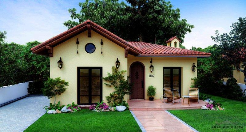 بيت من طابق واحد مساحه 115 متر مربع