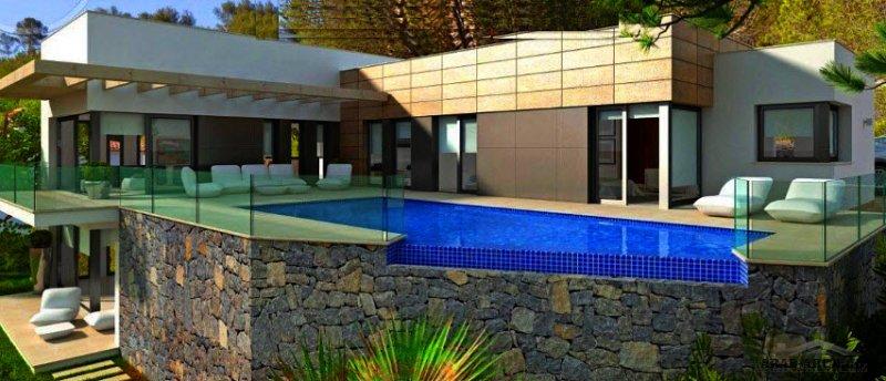 مخطط استراحة تصميم مميز طابق بمستوي المسبح و جناح سفلي