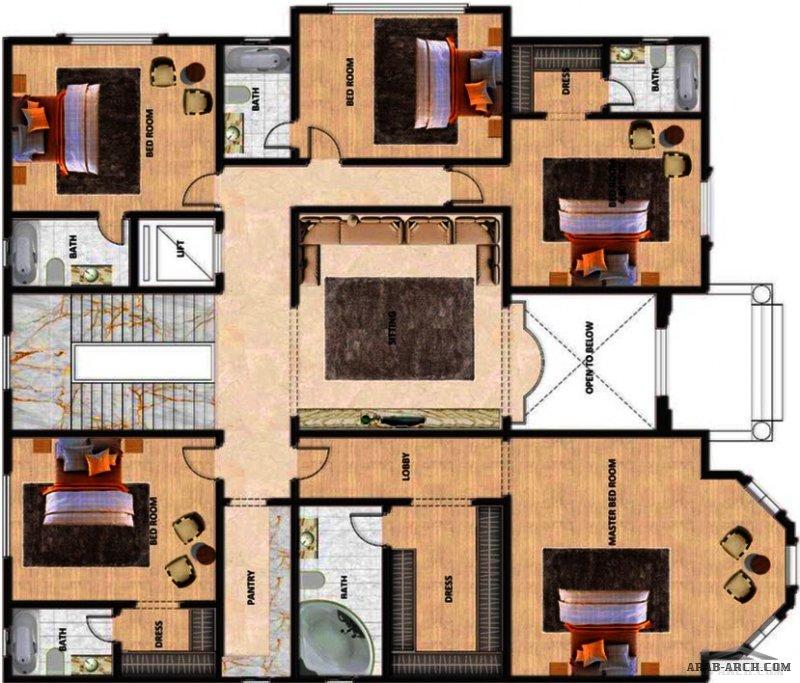 تصميم فيلا و واجهتها من طابقين ونصف وملحقاتها مع المخططات المعمارية، مساحة الارض ٩١٠ م٢ ومساحة البناء ١٢٠٠ م٢ ، من تصميم شركة المستقبل للاستشارات الهن