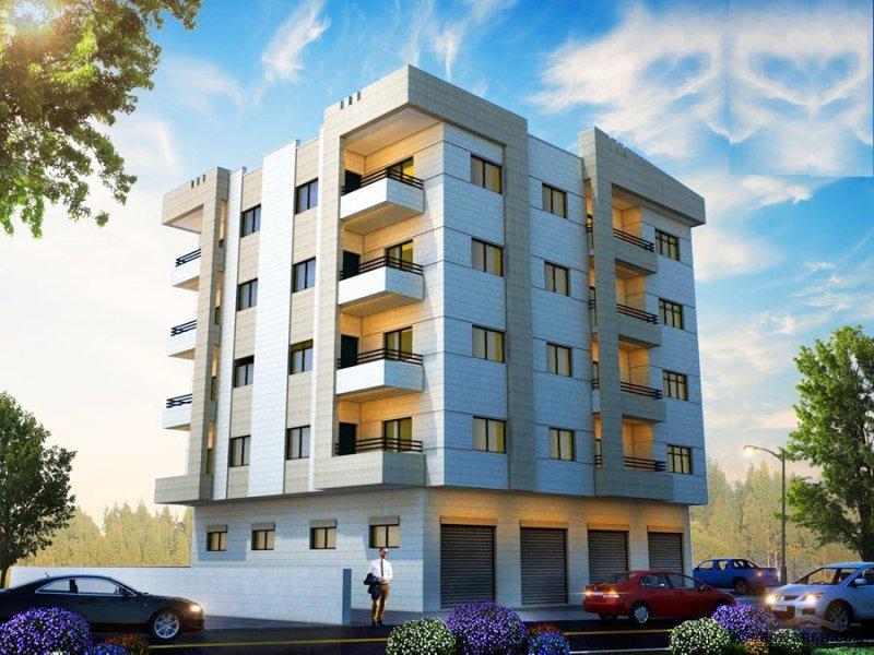عمارة النور - شقق سكنية مساحة صافية 152م2   من أعمال مكتب شمس للعمارة والديكور-المهندس المعماري محمود صبح