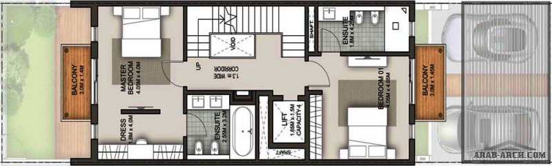 فيلا عملية صغيرة المساحة بتصميم عصر 3 طوابق