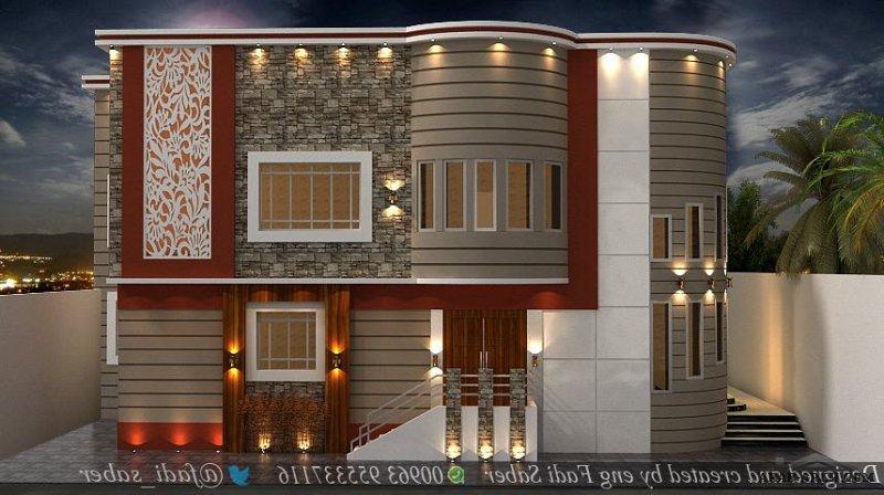تصاميم ابداعية تصميم ديكور جدرا واجهات مميزة للمهندس fadi_saber