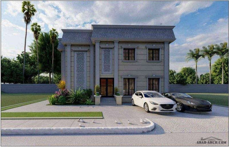 مخطط فيلا الجنوب اتوكاد تصميم سعودي ابعاد الارض 20*25 كامله المعماري و الانشائي مساحة البناء تقريبا 300 متر مربع للدور