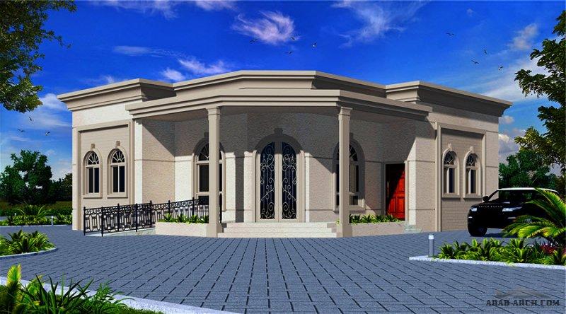 مخطط غرف النوم 3 المساحة 157.06 متر مربع عدد الطوابق أرضي أبعاد البيت 13.20 م x 13.95 م  ارتفاع السقف 8.00 متر