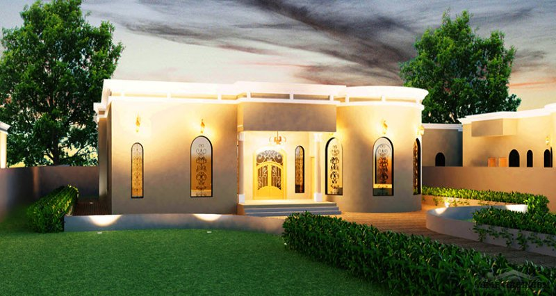 مخطط عصري بيت غرف النوم 4 المساحة 256.30 متر مربع عدد الطوابق أرضي أبعاد البيت 19.20 م x 17.50 م  ارتفاع السقف 8.00 متر