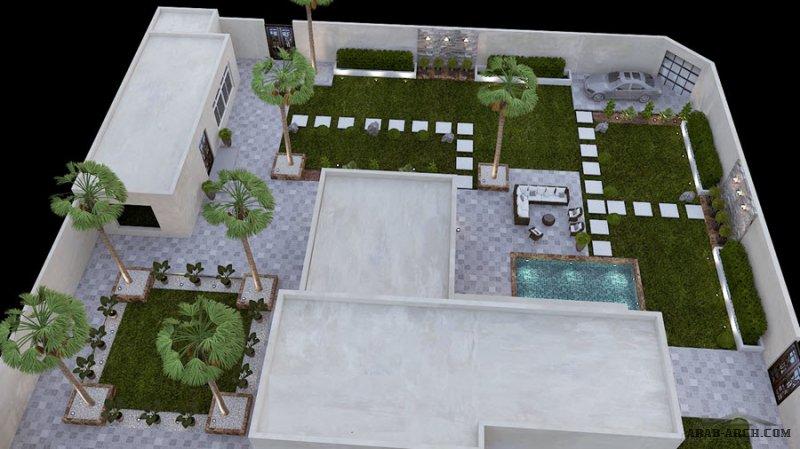 تصميم رائع جدااا و مميز للمهندس محمد التتري حديقة شاليه القصيم بالسعودية