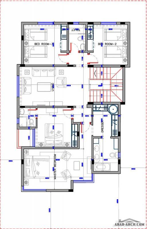 مخطط عصري فيلا 20* 13 متر تصميم سعودي حديث